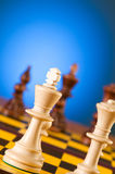 Chess concept with pieces Royalty Free Stock Image