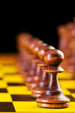 Chess concept with pieces Royalty Free Stock Photo