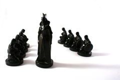 Chess concept of power royalty free stock photos