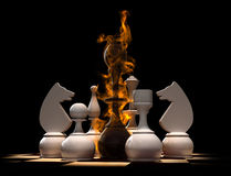 Chess. Conceptual 3d render of chess situation Stock Photo