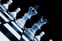 Chess conflict Royalty Free Stock Photos