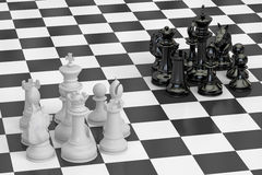 Chess, confrontation and conquest concept. 3D rendering Stock Photo