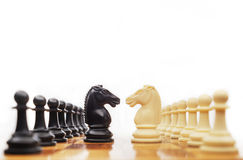 Chess confrontation Stock Photos