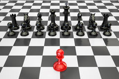 Chess, confrontation and opposition concept. 3D rendering Stock Image
