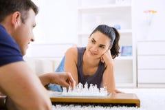chess couple playing Στοκ φωτογραφίες με δικαίωμα ελεύθερης χρήσης