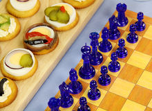 Chess And Crackers Stock Photography