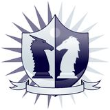 Chess crest - knights Royalty Free Stock Photos