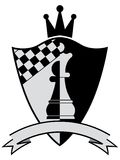 Chess crest. Vector illustration Stock Image