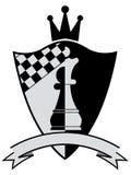 Chess crest. Vector illustration Stock Image
