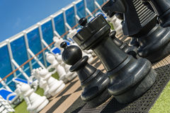Chess on cruise Stock Images