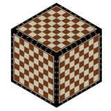 Chess cube abstract. Abstract background in the form of isometric chessboard planes Stock Photo