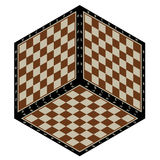 Chess cube abstract. Abstract background in the form of isometric chessboard planes Stock Photos