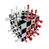 Chess cube Royalty Free Stock Photo