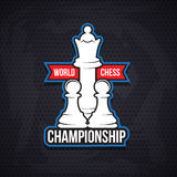 Chess cup logo or emblem template Royalty Free Stock Images