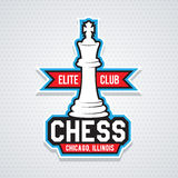 Chess cup logo or emblem template Royalty Free Stock Photography