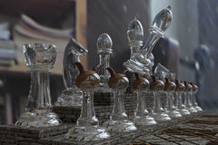Chess 3D, composition, the gameplay, the party. Stock Photo
