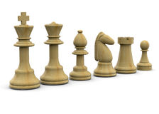 Chess - 3D Royalty Free Stock Photo