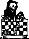 Chess and Death Royalty Free Stock Photo