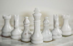 Chess desk Stock Photography