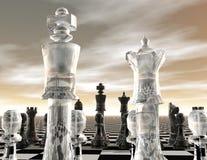 Chess. Digital visualization of a chessboard Stock Photo