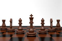 Chess. Disposition figures, led by King Royalty Free Stock Images