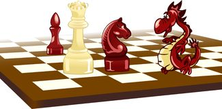 Chess and  Dragon Stock Photo