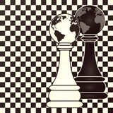 Chess earth pawn, vector Stock Photo