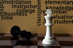 Chess and education concept Stock Photo