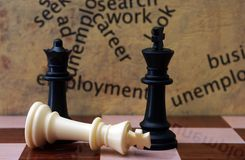 Chess and employment concept Royalty Free Stock Photo