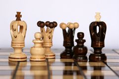Chess families Royalty Free Stock Image