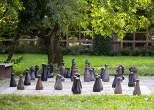 Chess field in a garden Stock Photography