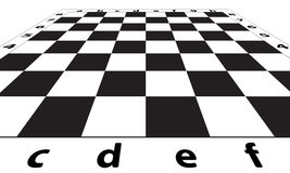 Chess field. Illustration of the chessboard icon Stock Photography