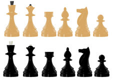 Chess figure. The  image of black and white chess figure Royalty Free Stock Images
