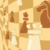 Chess figure on abstract background Royalty Free Stock Image
