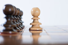 Chess figure on board Stock Image