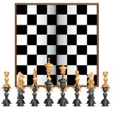 Chess Figure with Board Stock Photos