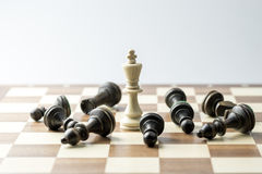 Chess figure, business concept strategy, leadership, team and su Stock Photos