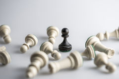 Chess figure, business concept strategy, leadership, team and success royalty free stock photos