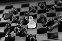 Chess figure, business concept strategy, leadership, team and su Stock Photography