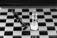 Chess figure, business concept strategy, leadership, team and su Royalty Free Stock Photography