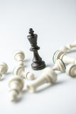 Chess figure, business concept strategy, leadership, team  Stock Photo