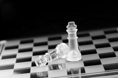 Chess figure, business concept strategy, leadership, team Stock Photography