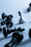 Chess figure, business concept strategy, leadership, team Stock Image