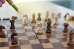 Chess figure business game Royalty Free Stock Photography