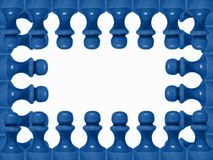 Chess figure frame 2 Royalty Free Stock Photos