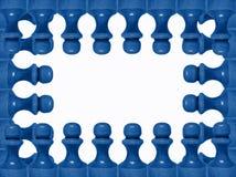 Chess figure frame 2 Royalty Free Stock Photos