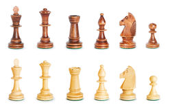 Chess figure isolated on the white Stock Image