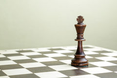 Chess figure the king Stock Photos