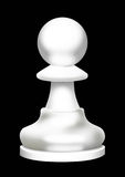 A chess figure is a pawn. Illustration of chess figure of pawn of white color on a black background Stock Photo