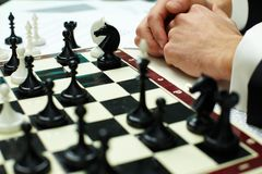 Chess figures royalty free stock photography